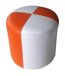Кож.зам Белый + Кож.зам. Оранжевый
