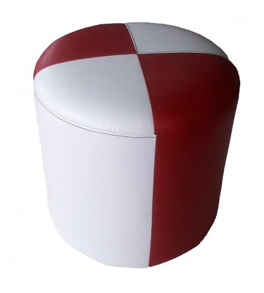 Кож.зам Белый + Кож.зам. Красный